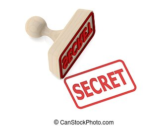Wooden stamp with secret word
