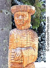 Wooden statue, Slovakia