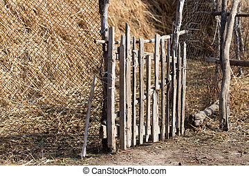 wooden stick on the fence