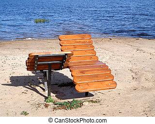 Wooden sunbeds