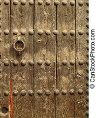 wooden surface of a door
