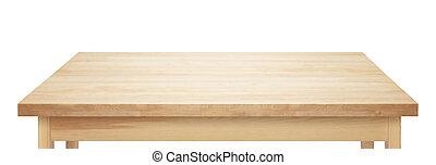 wooden table, bovenzijde