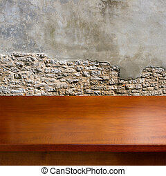 wooden table, lege