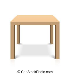 wooden table, plein