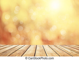 Autumn golden abstract background