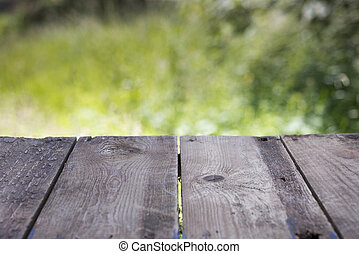Stock Photography of Wooden table top background of round table