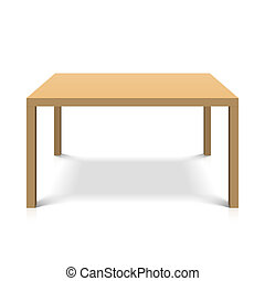 Wooden table - Vector illustration