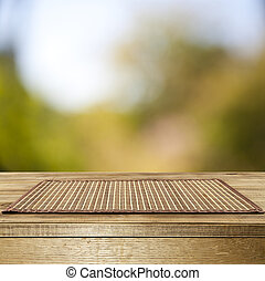 wooden table with the washed out background for your objects