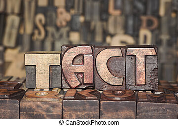 wooden TACT concept