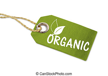 Wooden tag with 100% organic
