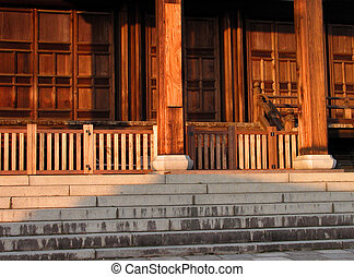 Wooden temple-architectural detail