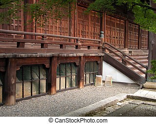 Wooden temple gate