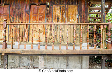 Wooden terrace of house