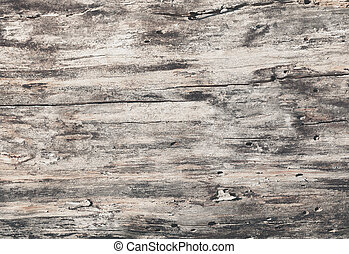 Wooden texture grey natural background with cracks, top view