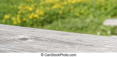 wooden texture in a meadow