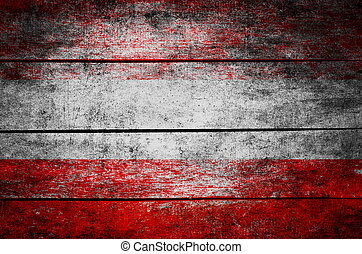wooden texture surface with old painted flag