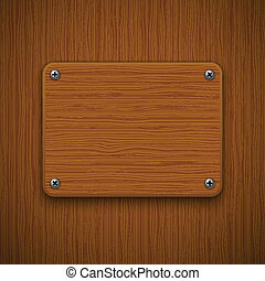Wooden texture with framework. Vector illustration