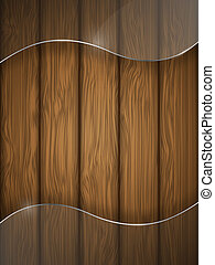 Wooden texture with glass.