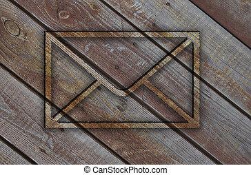wooden textureenvelope