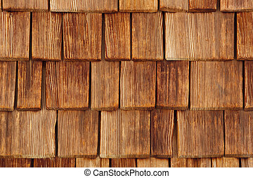 wall covered by wooden tile, texture