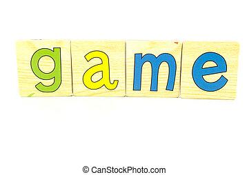 wooden tiles - spelling game