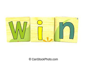 wooden tiles - spelling win