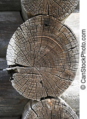 Wooden timber work of old house