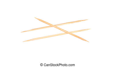 Wooden Toothpicks isolated on white background.