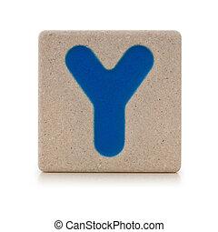 Wooden toy alphabet Y