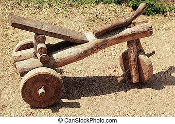 Wooden toy car for children.