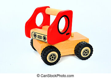 Wooden toy car truck