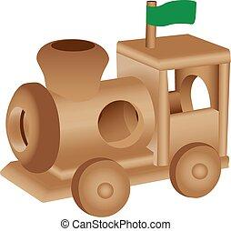 Wooden toy train illustration
