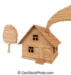 wooden toys isolated
