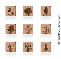 Wooden Tree Collection icons