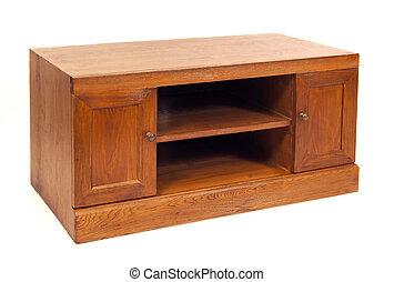 tv furniture - wooden tv furniture on white