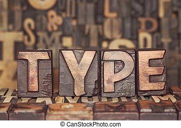 wooden type concept