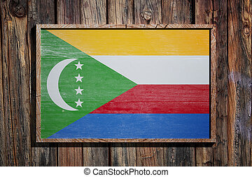 Wooden Union of the Comoros flag