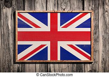 Wooden United Kingdom flag