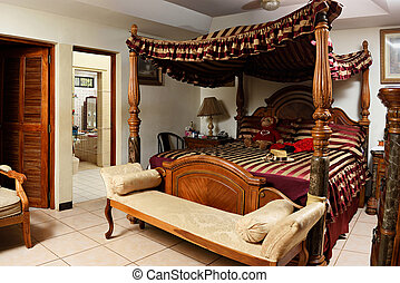wooden vintage bedroom