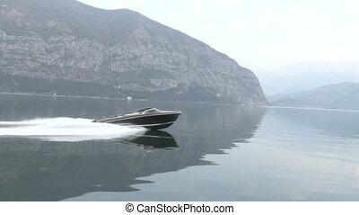 Wooden vintage luxury boat