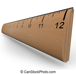 wooden vonalzó, to lépés, egy, cél, alatt, kísérlet, vagy,...