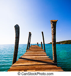wooden walkway