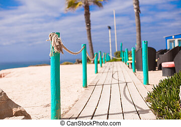 Wooden Walkway to the sandy beach