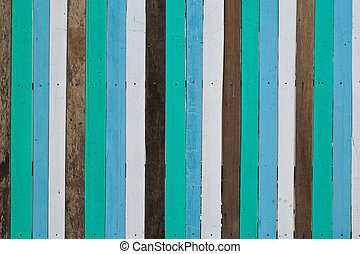 Wooden wall background, white, blue