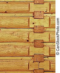 wooden wall corner