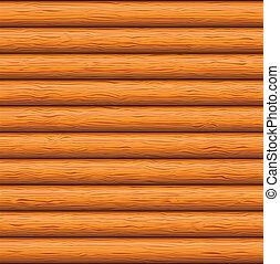 Wooden wall - Natural wooden timbered wall, seamless vector ...