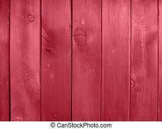 wooden wall red