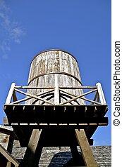 Wooden water barrel