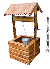 Wooden well isolated