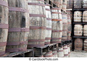 Wooden Whisky Barrels